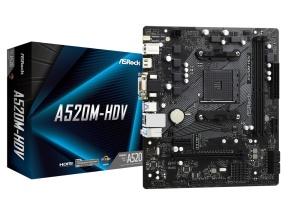 ASRock A520M-HDV, AM4, AMD A520, µATX