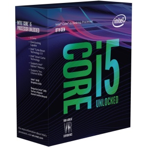 Intel Core i5-8600K, 6x 3600 MHz, Coffee Lake, boxed