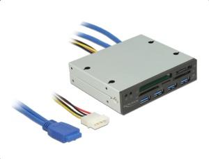 Delock USB 3.0 5 Slot Multi-Slot-Cardreader 3,5 Zoll schwarz