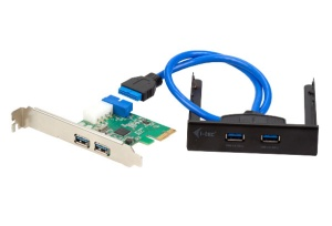 I-TEC USB 3.0 Front Panel 2-Port inkl. PCI Express Card