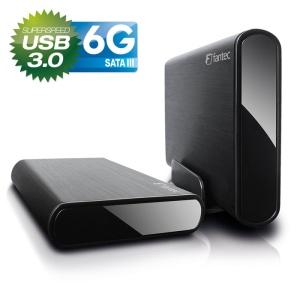 8,9cm S-ATA FANTEC DB-ALU3-6G, schwarz, USB3.0