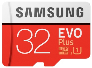 Samsung microSDXC EVO Plus 2017 32GB Kit, UHS-I, /Class 10