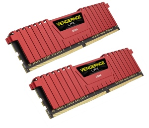 16GB Kit DDR4-RAM, 2400 MHz, Corsair Vengeance LPX rot