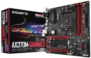 Gigabyte GA-AX370M-Gaming 3, AM4, AMD X370, µATX