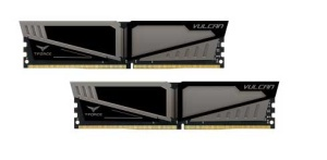 16GB Kit DDR4-RAM, 3000 MHz, TeamGroup T-Force Vulcan Gray