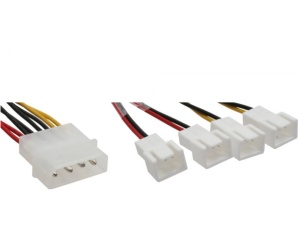 InLine Lüfter Adapterkabel, 2x 12V und 2x 5V, für 4 Lüfter