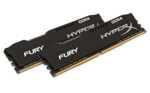 32GB Kit DDR4-RAM, 2666 MHz, Kingston HyperX Fury schwarz