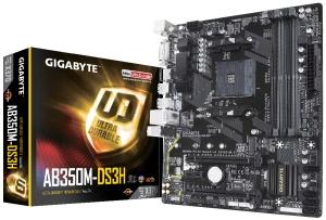Gigabyte GA-AB350M-DS3H, AM4, AMD X370, µATX