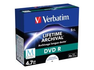 Verbatim M-DISC DVD R 4.7GB, 5er-Pack printable